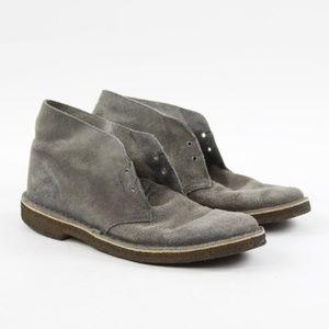 Clarks Gray Suede Desert Boot Short Chukka Mens 9